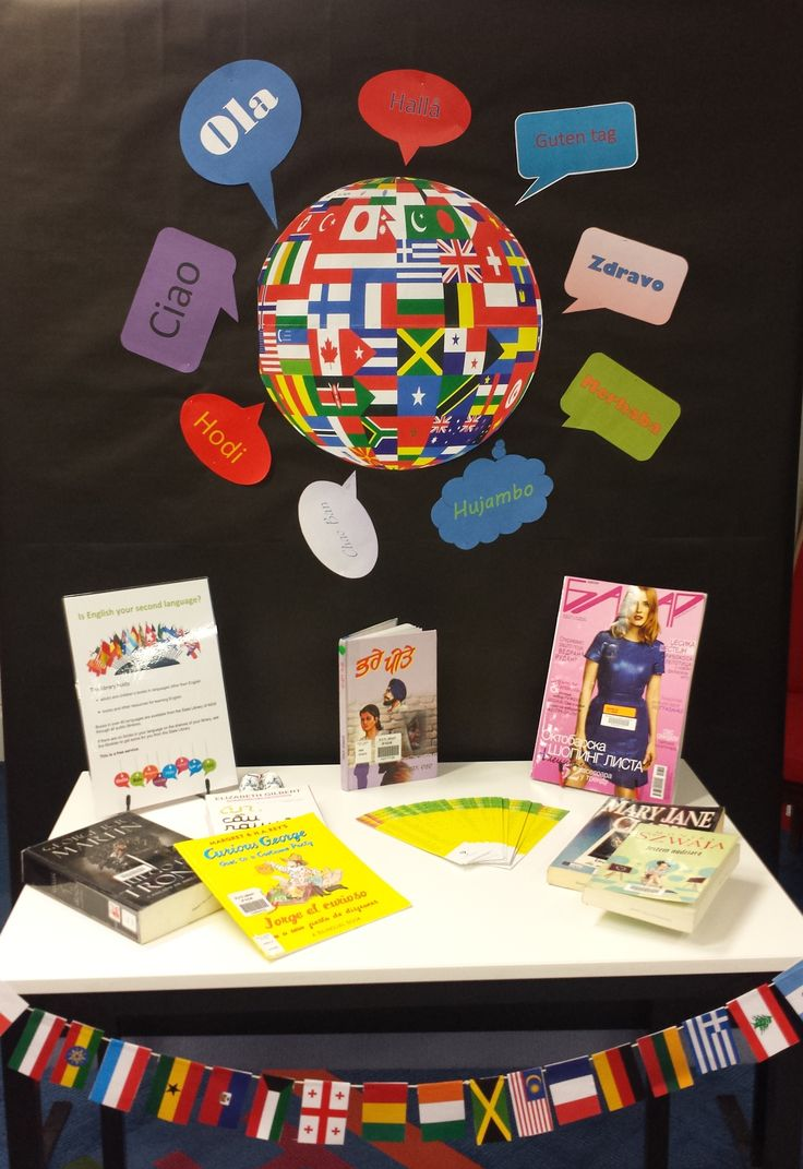 Foreign language display Queanbeyan City Library
