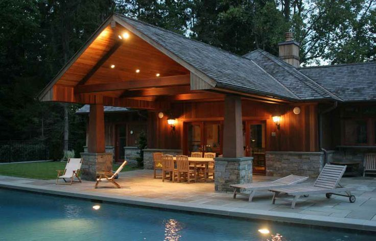 Composition Roof Structure With Cedar Post Stone Boots
