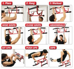 GoFit Elevated Chin Up Station bar