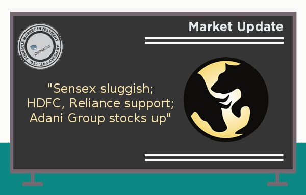 Benchmark indices as well as broader markets remained sluggish as investors awaited quarterly earnings. The 30-share #BSE #Sensex was down 20.22 points at 29,441.23 and the 50-share #NSE #Nifty fell 11.65 points to 9,139.15. The market breadth was balanced. Adani Group #stocks were on buyers' radar as Adani Ports, Adani Enterprises, Adani Power and Adani Transmission gained 2-4 percent. HDFC, Reliance Industries and ICICI Bank continued to support the market whereas ITC, HDFC Bank and…