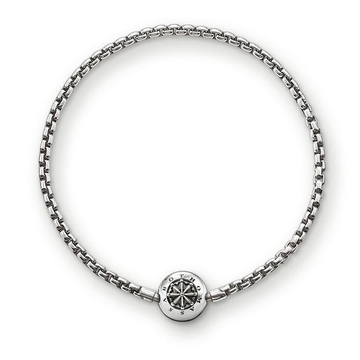 THOMAS SABO Karma Bead Armband aus der Sterling Silver Kollektion. Armband mit Klappschloss - 925er Sterlingsilber, geschwärzt Breite: 0,3 cm