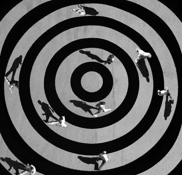 ♂ 360 Degree Circle O Whirl (圆)- Black & white conceptual photography by Aleksey Bedney