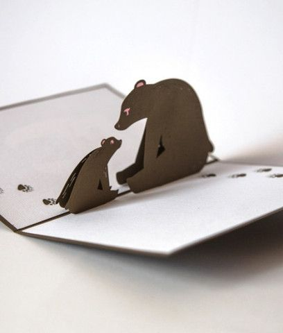 Bear Pop Up New Baby Card