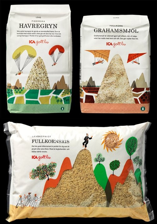Clever packaging #design using #illustration and clear windows to the product itself
