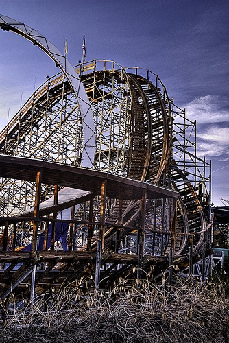 Roller coaster........I hate roller coasters....because I am so afraid of heights.