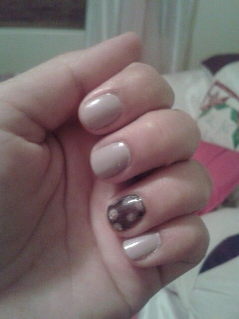 1st feather nail art