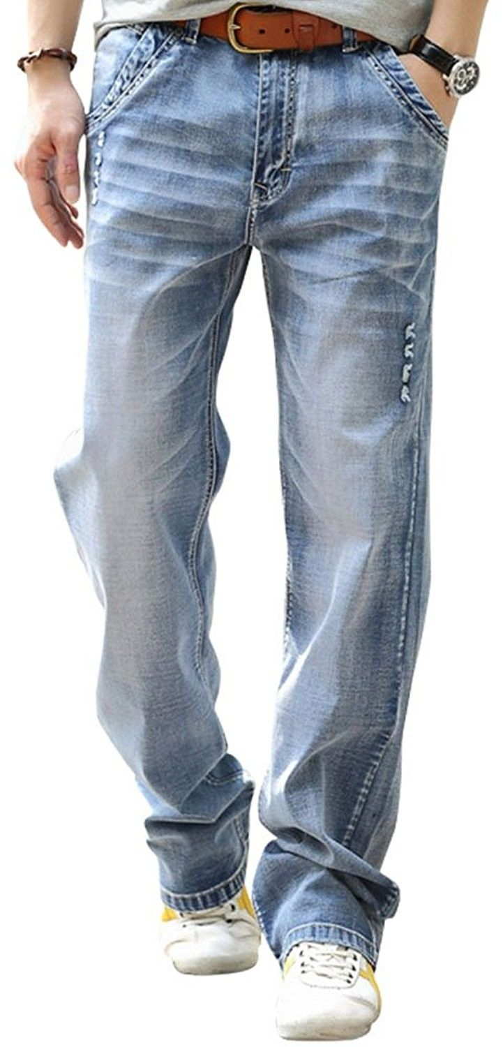Men/'s Plus Size Casual Loose Denim Pants Big and Tall Straight Leg Jeans sale