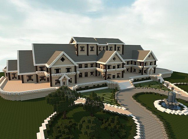 Luxury Mansion minecraft building ideas house design #Minecraftbuildings