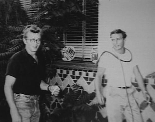 james dean out james dean and dennis hopper hanging out