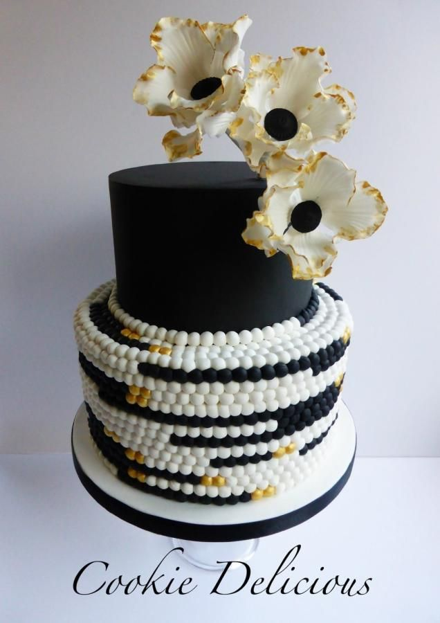 17 Best Images About Black And White Cakes On Pinterest