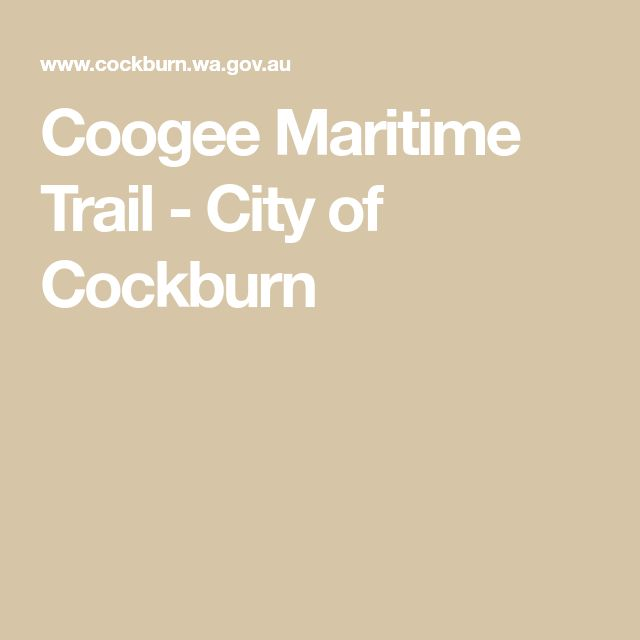 Coogee Maritime Trail - City of Cockburn