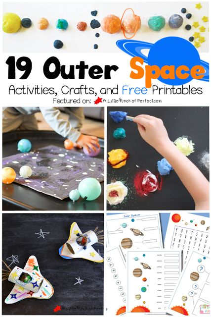 19 Exploring Outer Space Activities, Crafts, and Printables for Kids | A Little Pinch of Perfect