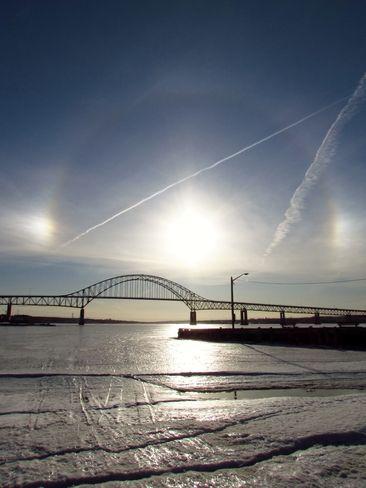 Another nice photo of the bridge in Miramichi NB.