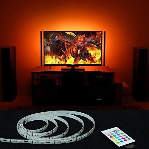 MXTC USB TV Bias Lighting Led Backlights for 47 48 50 55 Inch SAMSUNG TCL VIZIO LG SONY SHARP HISENSE HDTV Backlighting Wall Mount Movie Theater Decor ** Want to know more, click on the image.