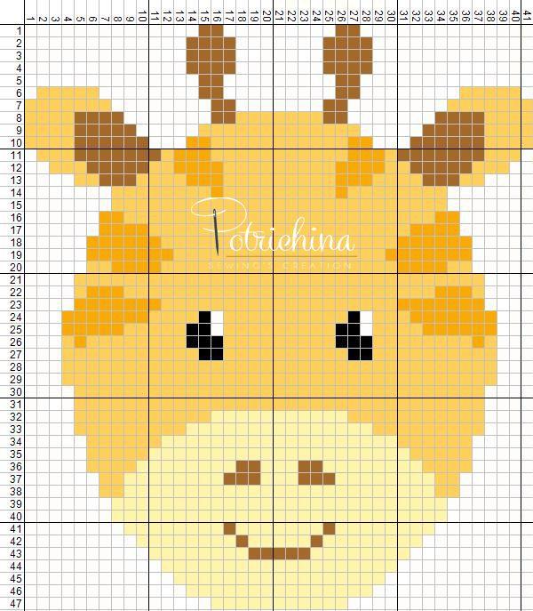 94 best schemi punto croce potrichina images on pinterest for Giraffa punto croce