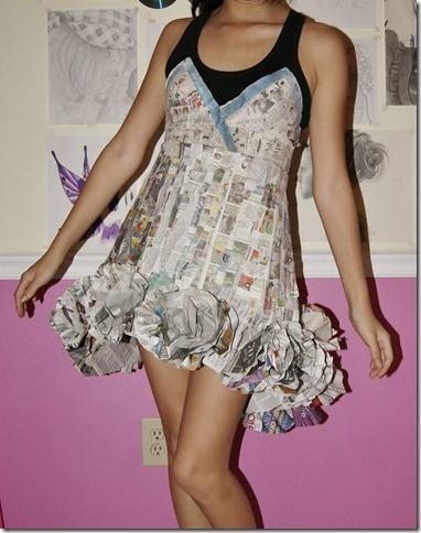 Cute baby doll newspaper dress