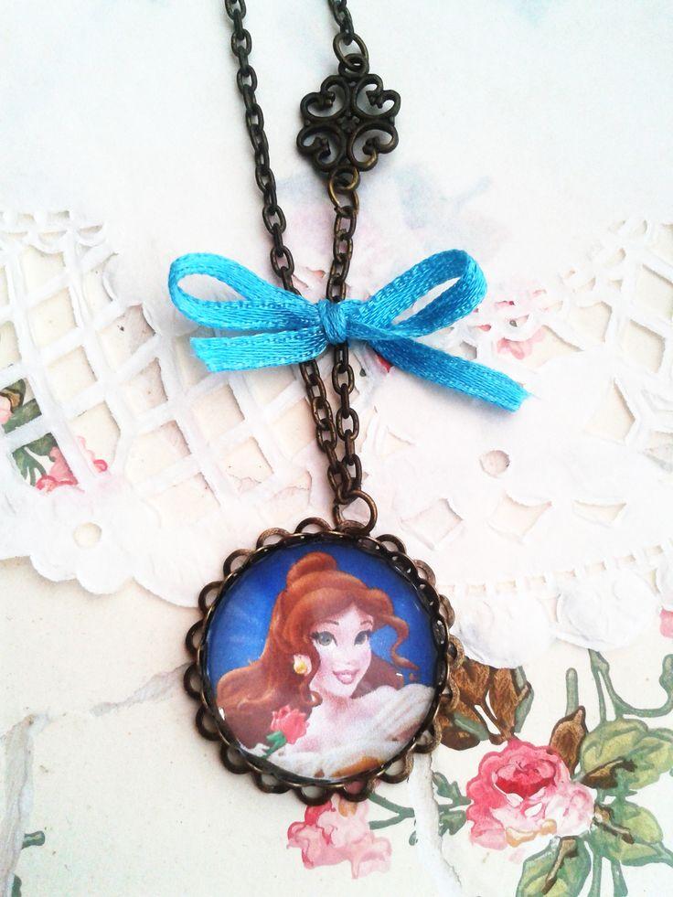 Disney Belle lánc kislány ékszer, mesés nyaklánc kis hercegnők örömére (vintage, jewerly, necklase, Disney Princess, Minnie, Frozen)