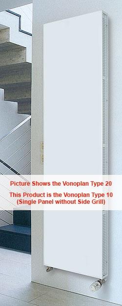 Vogel and Noot Vonoplan 10 Vertical Radiator 1800mm High x 500mm Wide K1