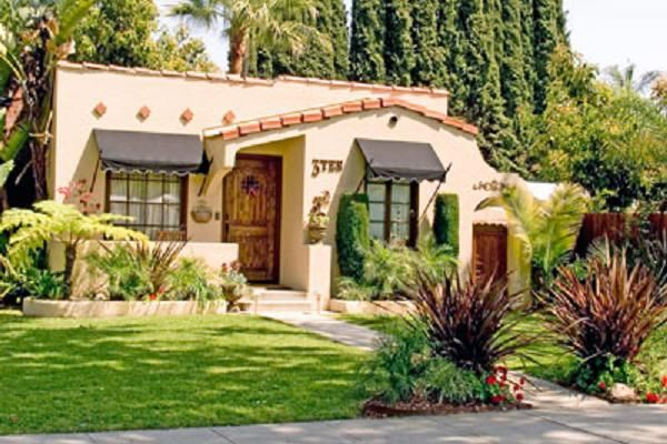 96 best images about cottage california style on for Spanish bungalow exterior paint colors