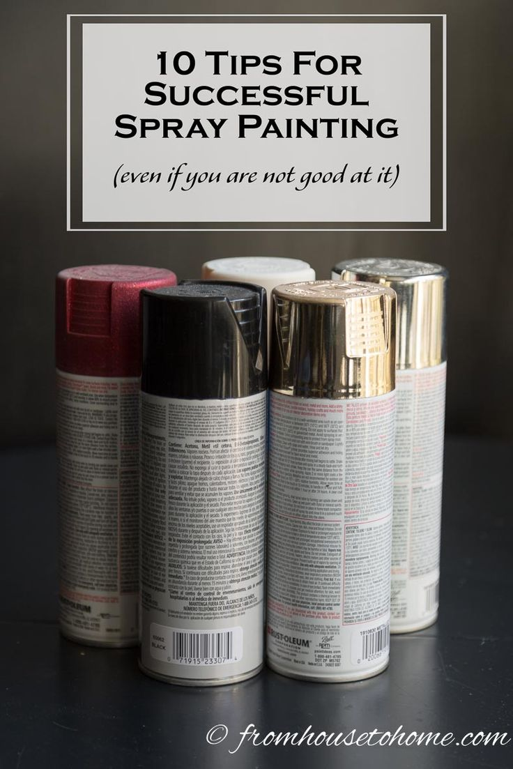 for successful spray painting spray painting painting tips painting. Black Bedroom Furniture Sets. Home Design Ideas