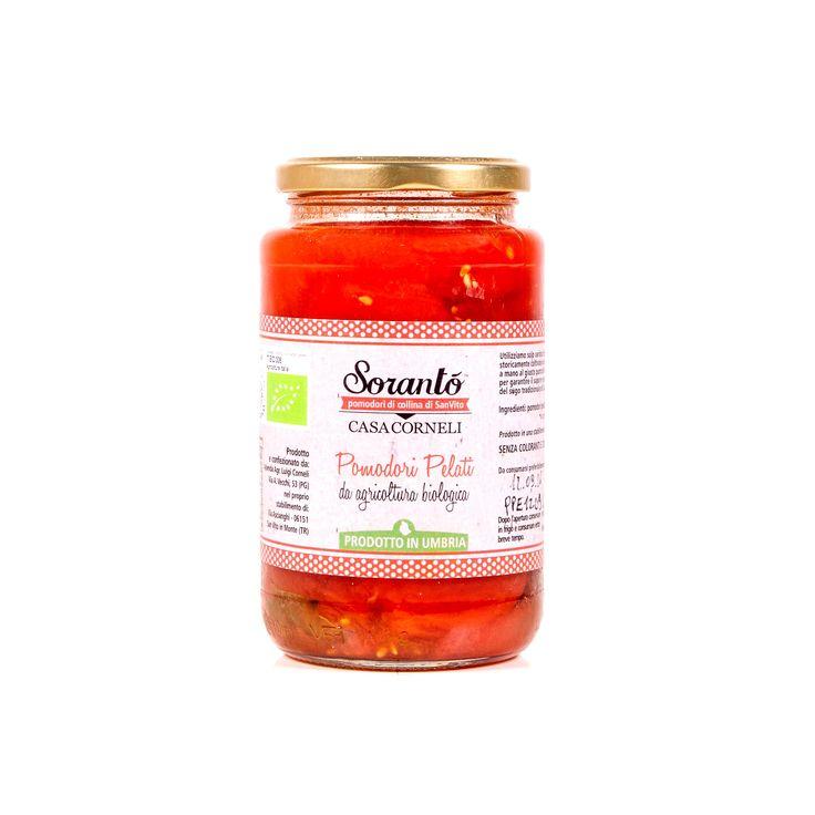 #Pomodori #Pelati #Biologici #Casa #Corneli. I #pomodori #pelati prodotti dall'azienda agricola #Casa #Corneli custodiscono il sapore fresco e genuino del #pomodoro come appena colto. Dalla #polpa #densa e consistente, sono privati della pelle e immersi in un gustoso succo di pomodoro insieme a foglie di #basilico freschissimo.  Particolarmente versatili in #cucina, i pomodori #pelati sono perfetti per realizzare le #ricette più tradizionali della #cucina #mediterranea.