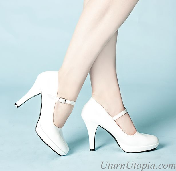 White Mary Jane Shoes /Rockabilly/Retro/Wedding
