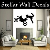 DIRT BIKE decal - Brett's room