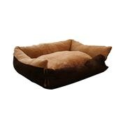 Luxury Warm Pet Sofa Beds with Outside Streching Part (Brown) |Dog Beds & Covers : PACCONY.com