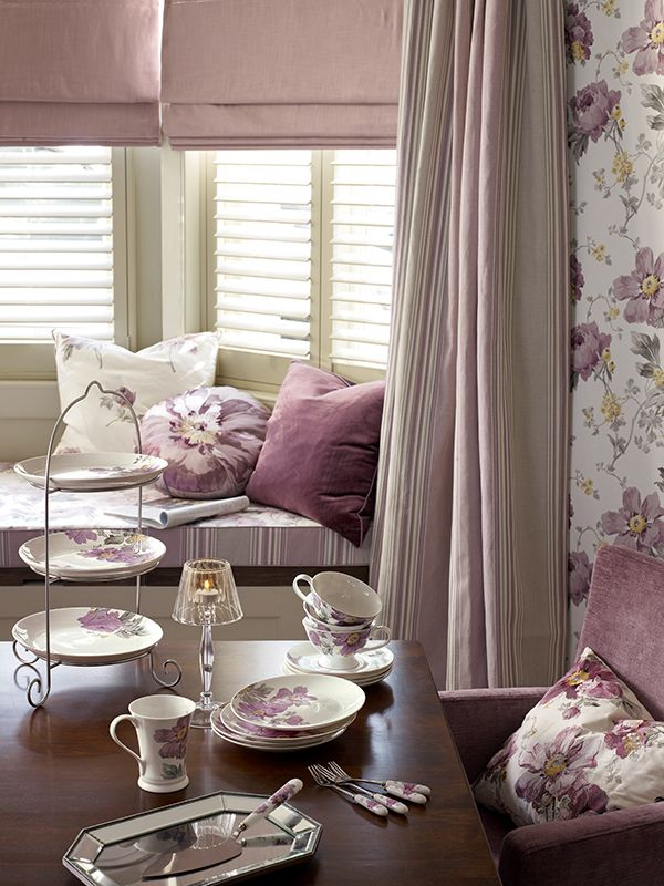 From The Laura Ashley Peony Amethyst Collection