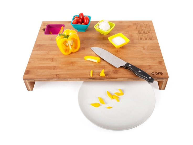 Elevated Cutting Board.  this would be really nice with some kind of disposal drawer tucked in.