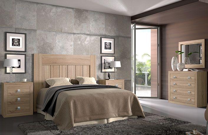 Dormitorio matrimonio cambrian blanco | Bases de camas | Dormitorio ...