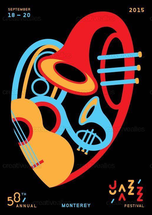 jazz festival poster designs - Buscar con Google