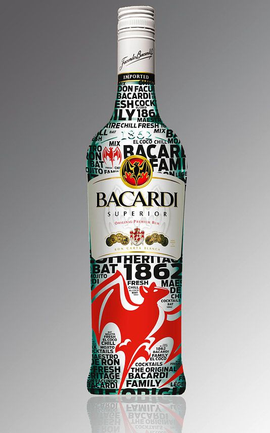 Bacardi - design bottle www.marionalamercery.com/wordpress