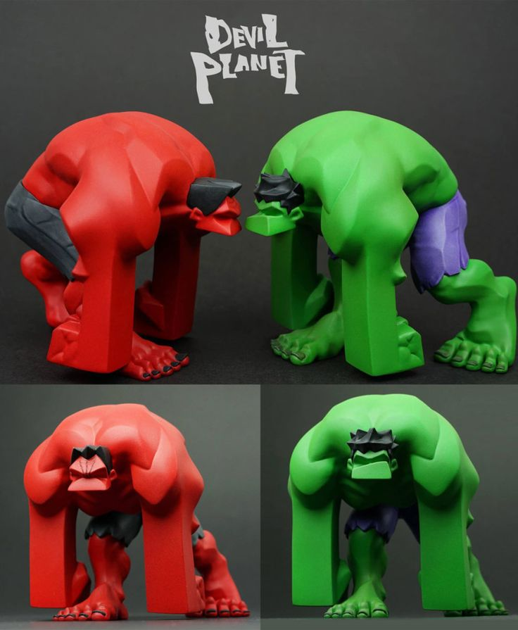 "Devil Planet ""Green"" & ""Red"" Hulk figure teaser from Kang Minjung!"