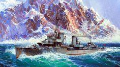 1940 Narvik, Norway. German Destroyer Z-17