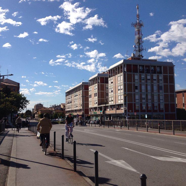 Via Bologna, ponte Darsena. Ferrara