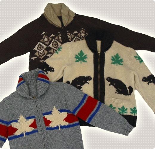 vintage Cowichan Sweaters..super fun!