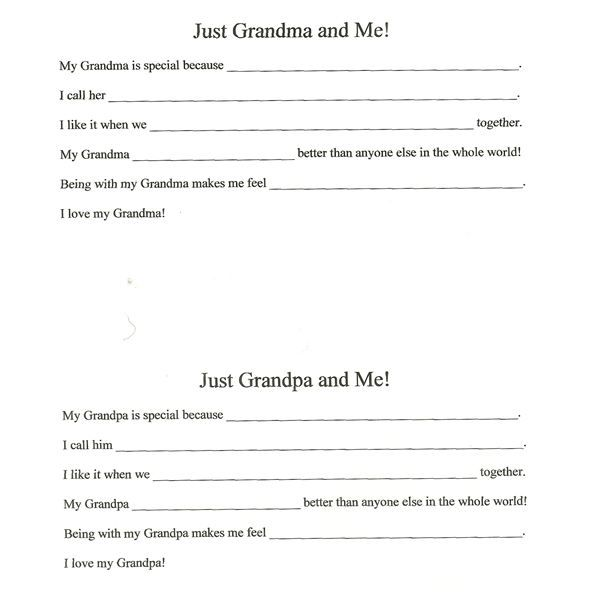 Grandparents Day Activities | Kids Activities for Grandparents Day in the Preschool and Elementary ...