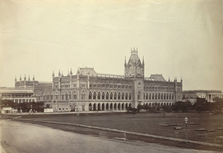 Court in the year 1860. The High Court building is an exact replica of the Cloth Hall, Ypres, in Belgium.