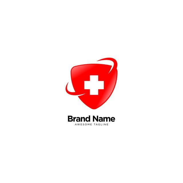 Hospital Sign Cross Logo With Shield Hospital Signs Doctor Logos Medical Logo