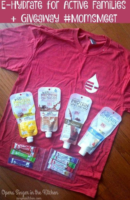 E-Hydrate for Active Families + Giveaway #momsmeet