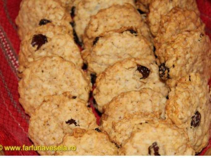 Biscuiti de casa cu fulgi de ovaz si stafide (reteta video) - Preparare etapa 4