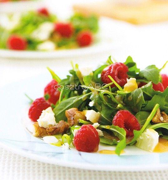 Málnás, fetás, diós saláta | Receptek | gasztroABC