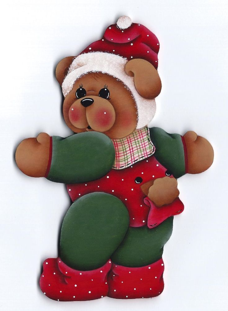 HP TEDDY BEAR  FRIDGE MAGNET or ORNAMENT u choose #Handpainted
