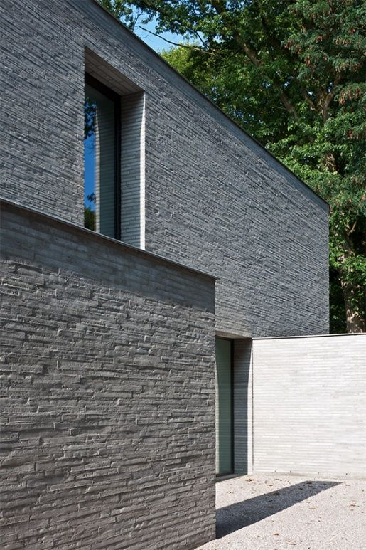 I really like this stone or brick material! Vincent Van Duysen, VM residence, St. Martens
