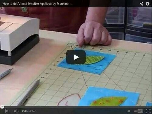 How to do almost invisible applique by machine