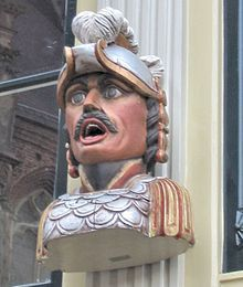 Gaper A gaper is a stone or wooden head, often depicting a Moor, on the front of a building in the Netherlands. It was used to indicate that this building is a pharmacy.