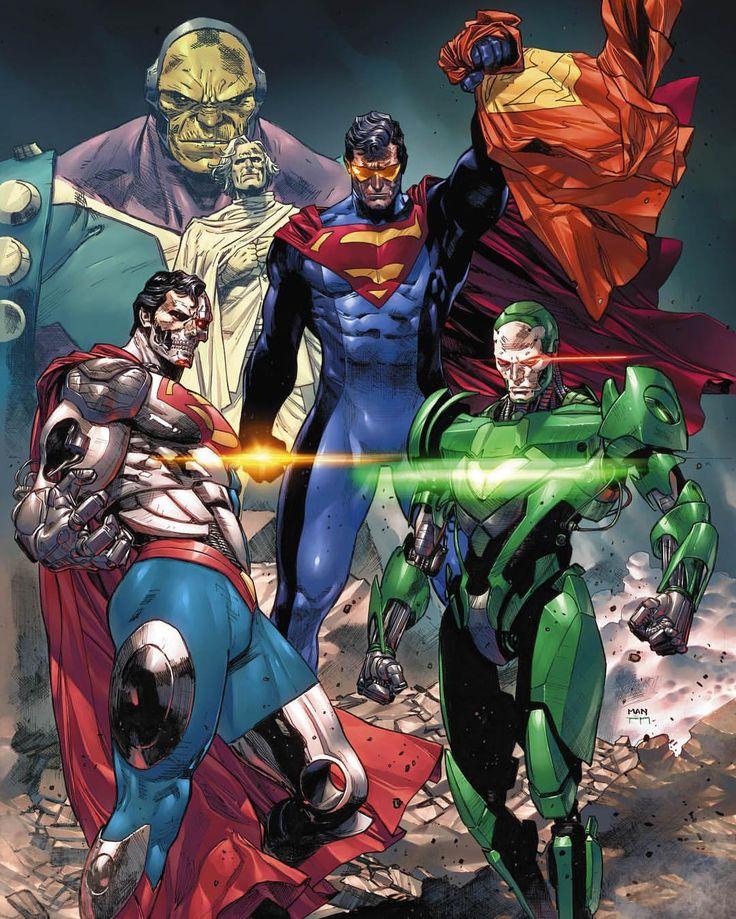 SUPERMAN, SUPERMAN CYBORG AND GREENROBOCOP