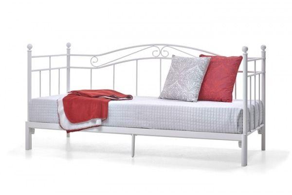 Łóżko Princess White 80-160 metalowe rozkładane
