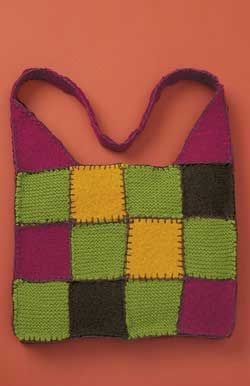 Patchwork Knitting Bag Pattern : 61 best images about Free Bag, Purse & Case Knit Pattern on Pinterest F...